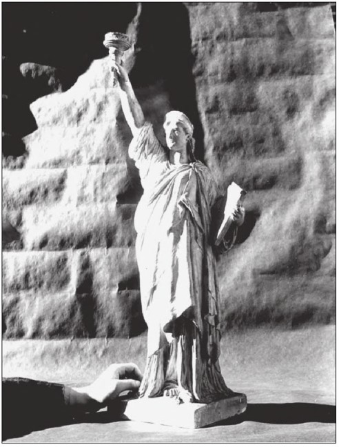 orígenes en arcilla de la diosa de la libertad