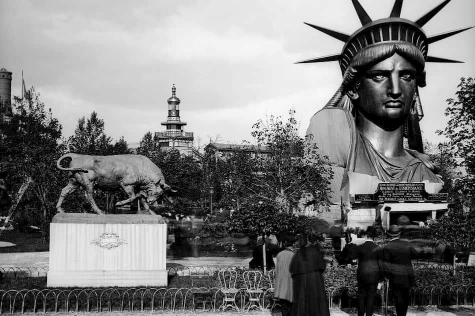 exhibicion Paris estatua de la libertad 1878