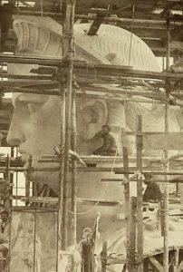 Molde cabeza estatua libertad