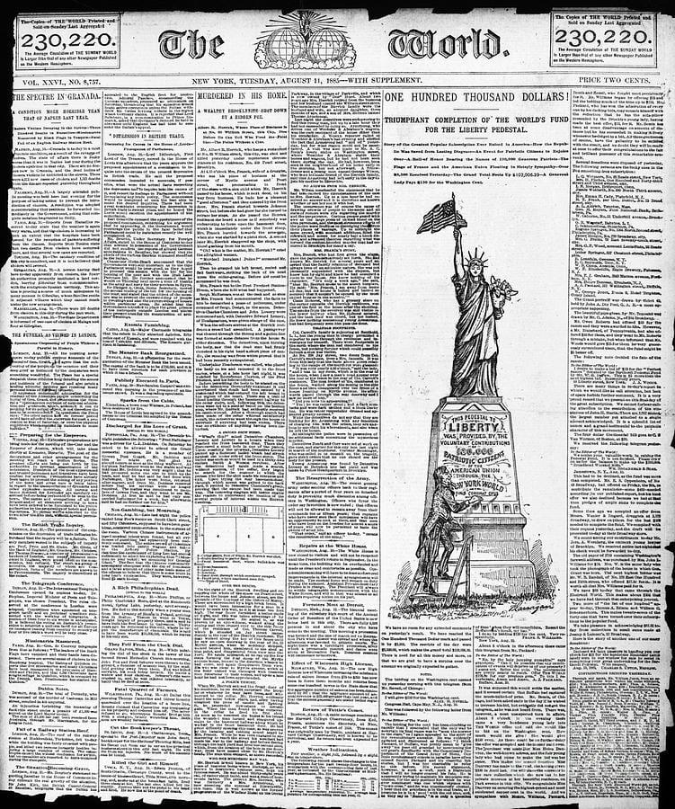 pulitzer estatua de la libertad