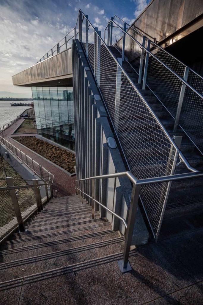 escaleras de acceso a la azotea
