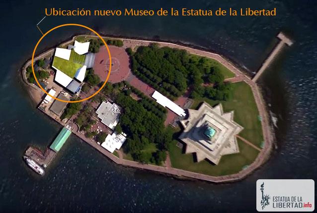 mapa estatua de la libertad museo