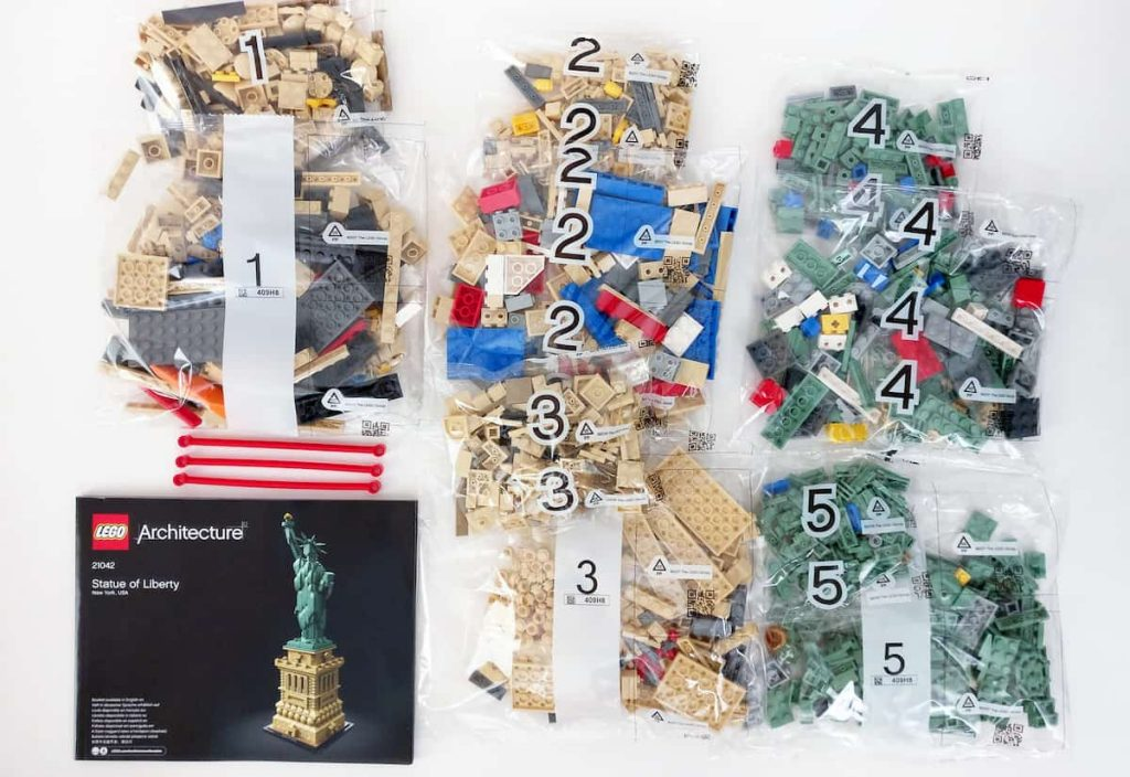 montaje bolsas lego liberty