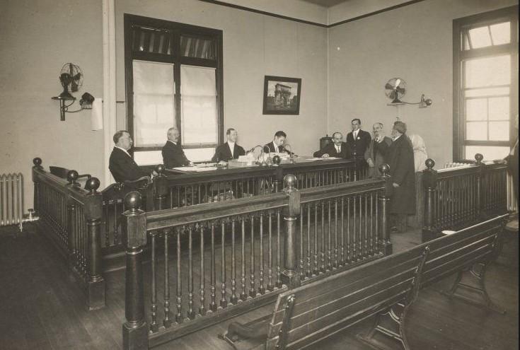 sala de audiencias tribunal