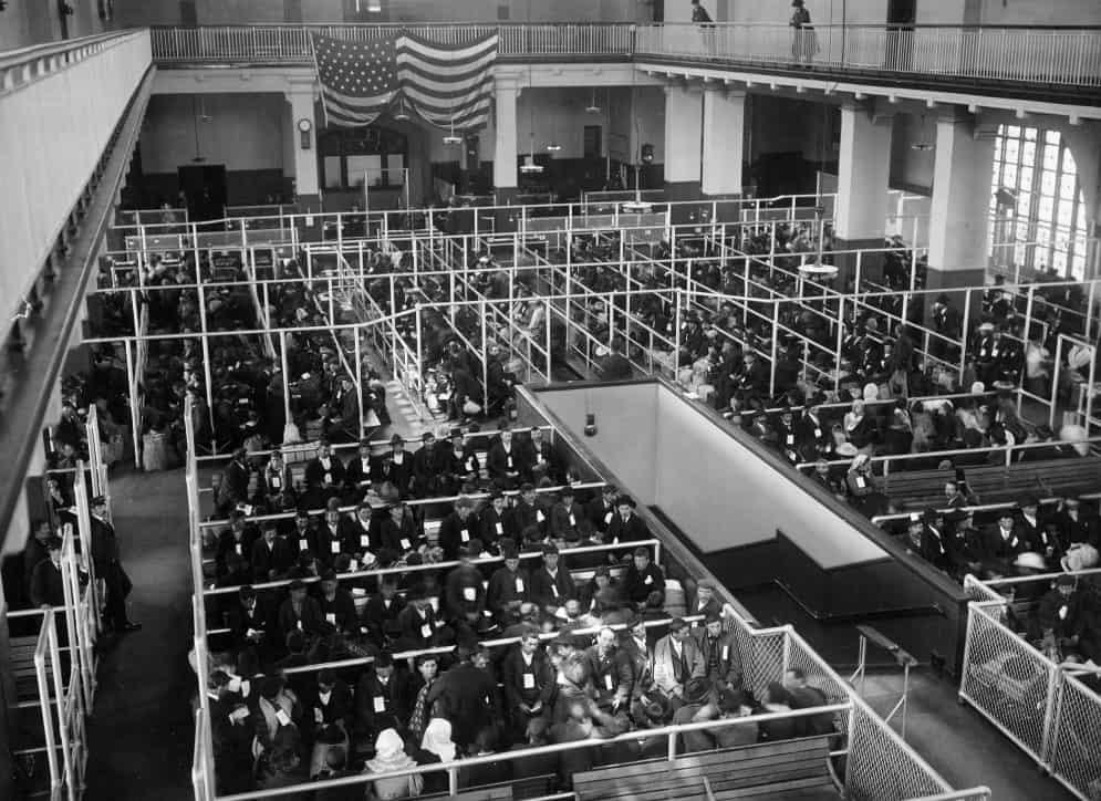 sala de registro en 1907