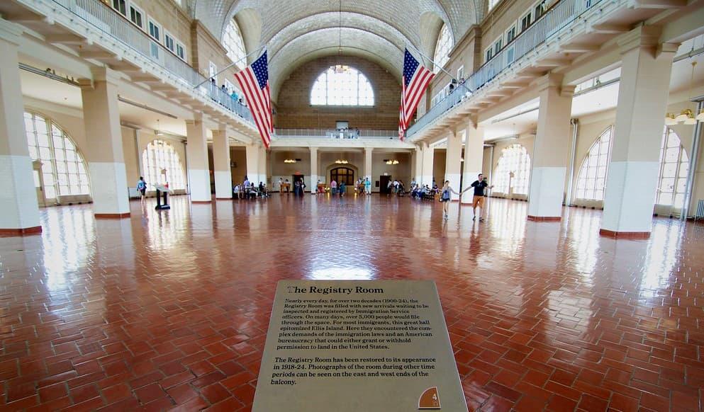 Sala de Registro Isla de Ellis Museo.