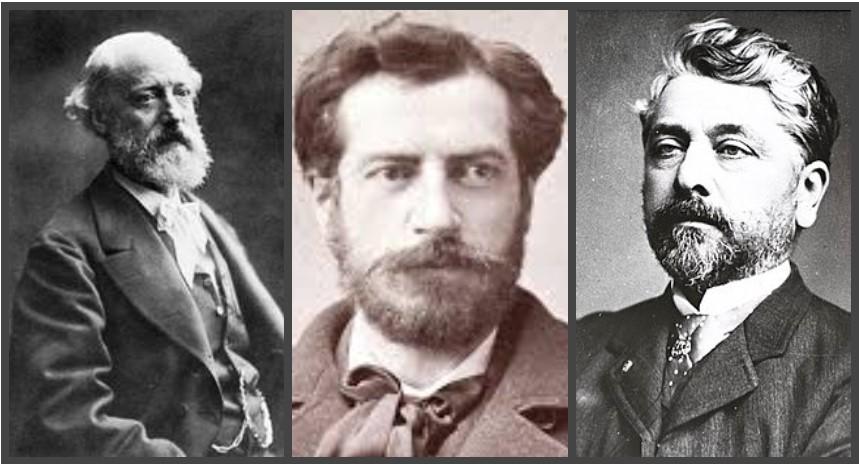 Eugene Emmanuel Viollet, Frederic Barthold y Alexandre-Gustave Eiffel