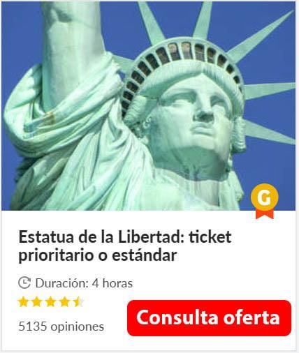 Entrada estandard estatua de la libertad