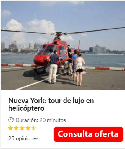 estatua libertad desde helicoptero